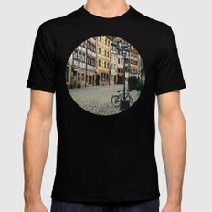 Old Town MEDIUM Black Mens Fitted Tee