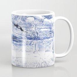 Gray Blue Marble nebulous watercolor Coffee Mug