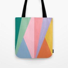 Geometric Triangles - Rainbow Tote Bag