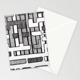 Mid Century Modern Stripes Stationery Cards