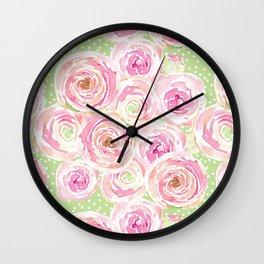 Blush Pink Bouquet Wall Clock