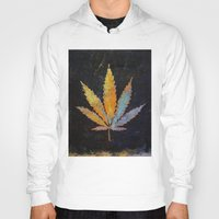 cannabis Hoodies featuring Cannabis by Michael Creese