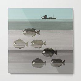 Pirañas en el río / river piranhas Metal Print