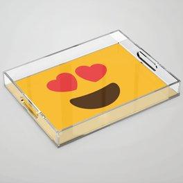 Love Face Acrylic Tray