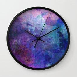 blue opal gemstone Wall Clock