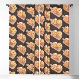 Smile Dog Burger Blackout Curtain