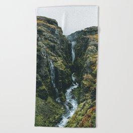 Glymur Falls Beach Towel