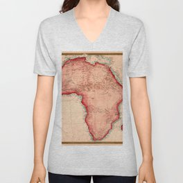 Map Of Africa 1844 Unisex V-Neck