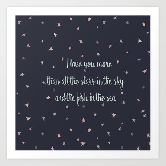 Love and the stars Art Print