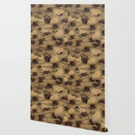 Ironstone Bole Tan Flora Wallpaper