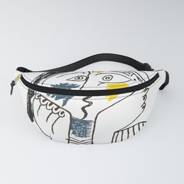 Pablo Picasso Kiss 1979 Artwork Reproduction For TShirts, Framed Prints Fanny Pack