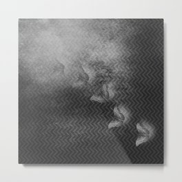 Ghost butterflies disappear in the mist Metal Print