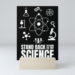 Science Gift Funny Chem Bio Scientist Professor Mini Art Print