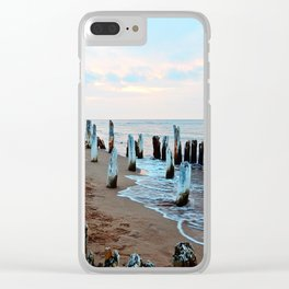Water licks the Wharf's Remains Clear iPhone Case