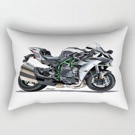 The Supercharged Kawasaki Ninja H2 Hypersport Bike Rectangular Pillow