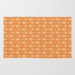 Orange Arrow Boho Tribal Print Rug