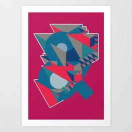 Ampersand Lost in Pyramids Art Print