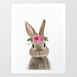 Bunny with Flower Crown Kunstdrucke