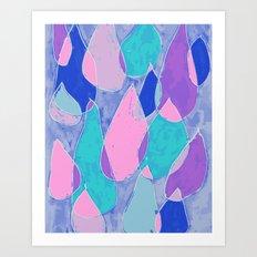 Soft Drops Art Print