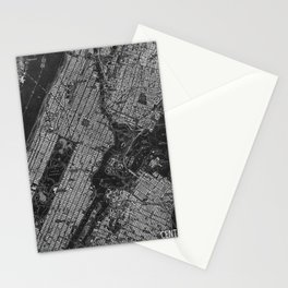 Central Park New York 1947 vintage old map for office decoration Stationery Cards