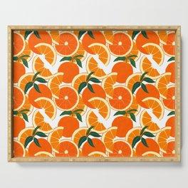 Orange Harvest - White Serving Tray