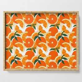 Orange Harvest - White Serving Tray