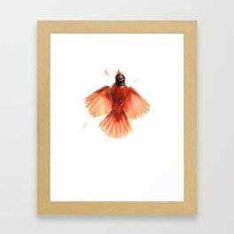 Northern Cardinal - Window Strike! Framed Art Print