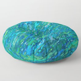 Shades Of Blue Waterfall Floor Pillow
