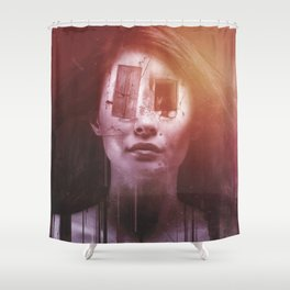 windows are Eyes Shower Curtain