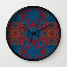New Color Pyramidal Mandala 72 - Pattern 1 Wall Clock