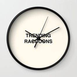 Trending Raccoons - Cream Wall Clock