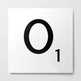Letter O - Custom Scrabble Letter Tile Art - Scrabble O Initial Metal Print
