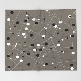 Molecular Pattern Throw Blanket