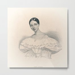 Portrait of Ballerina Metal Print