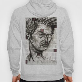 Warrior - Charcoal on Newspaper Figure Drawing Hoody