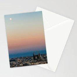 Barcelona Moonlight Stationery Cards