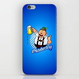 Oktoberfest - man in lederhosen iPhone Skin