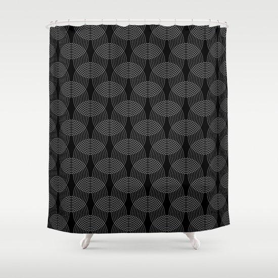 black undulation Shower Curtain