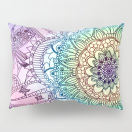 Purple Butterfly Mandala Pillow Sham
