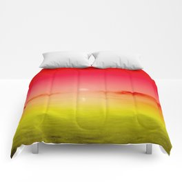 Danube Sunset//Red Passion Comforters