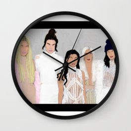 keeping up with the kardashians and jenners Wall Clock