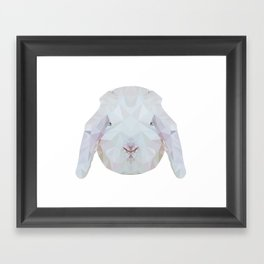 Bunny Portrait Framed Art Print