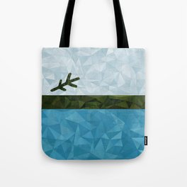 Geo Labrador Flag Tote Bag