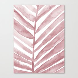 Pink Palm Leaf Crop Canvas Print