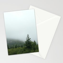 Foggy mountain Stationery Cards