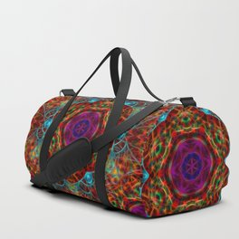 Magical vibrant web Duffle Bag