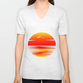 Sunset Unisex V-Neck