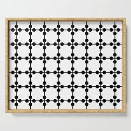Droplets Pattern - White & Black Serving Tray