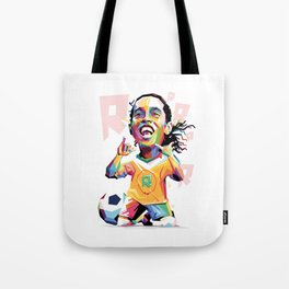Ronaldinho Carricature WPAP Tote Bag