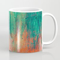 metal Mugs featuring Vintage Metal by Patterns and Textures